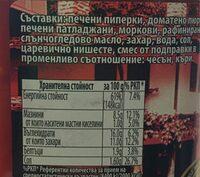 Olinesa Vegetable Appetizer - Хранителна информация - bg