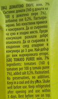 Доматено пюре - Ingrédients - bg