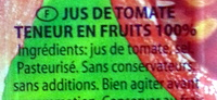 Fresh 100% juice tomato - Ingrédients - fr