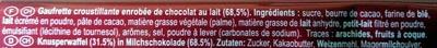 KitKat CHUNKY - Ingrédients