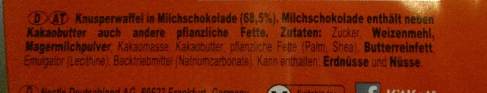 kitkat - Ingredients - de