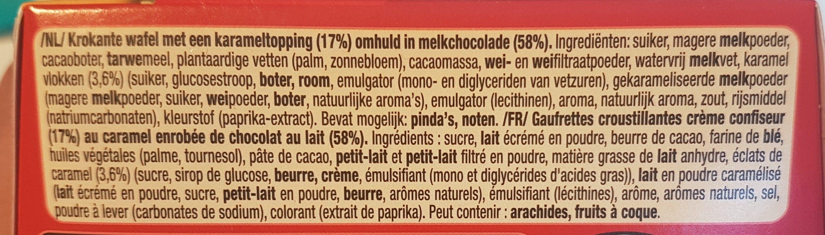 Senses Caramel pointe de sel - Ingrédients - fr