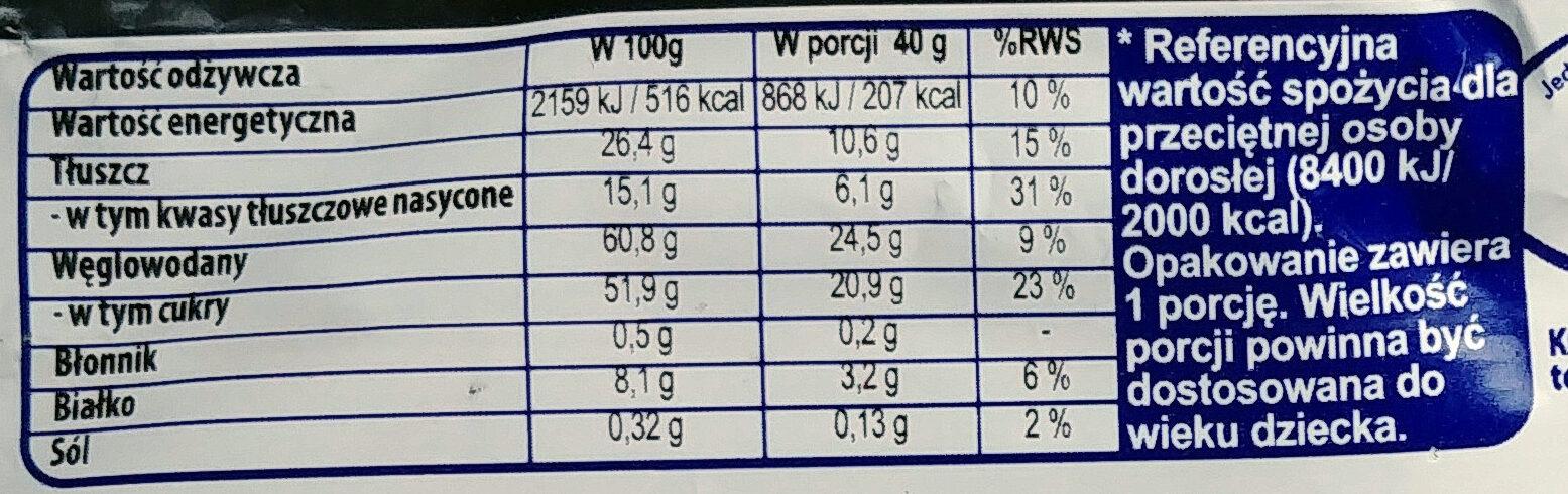 Paluszek waflowy w białej czekoladzie 68%. - Informations nutritionnelles - pl