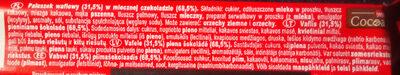 Paluszek waflowy w mlecznej czekoladzie - Ingrediënten - pl