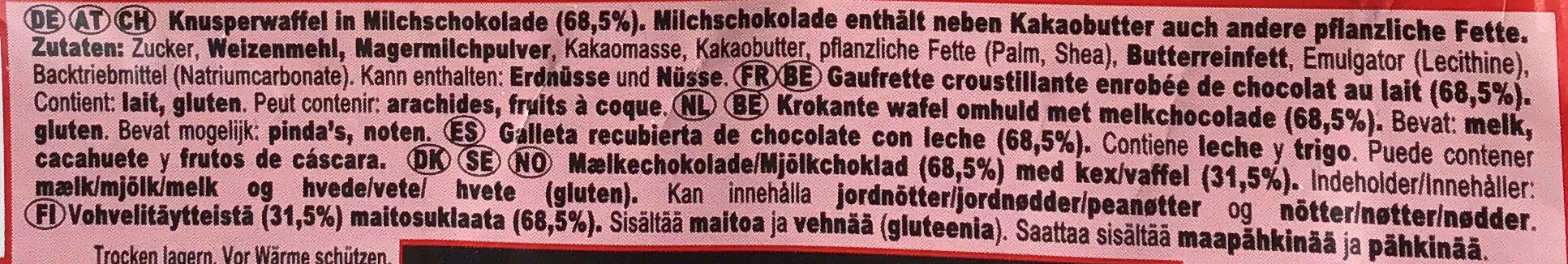 KitKat Chunky - Ingredients - de
