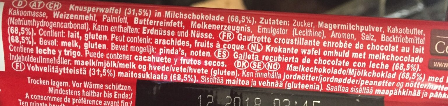 KitKat Chunky - Ingrédients - fr