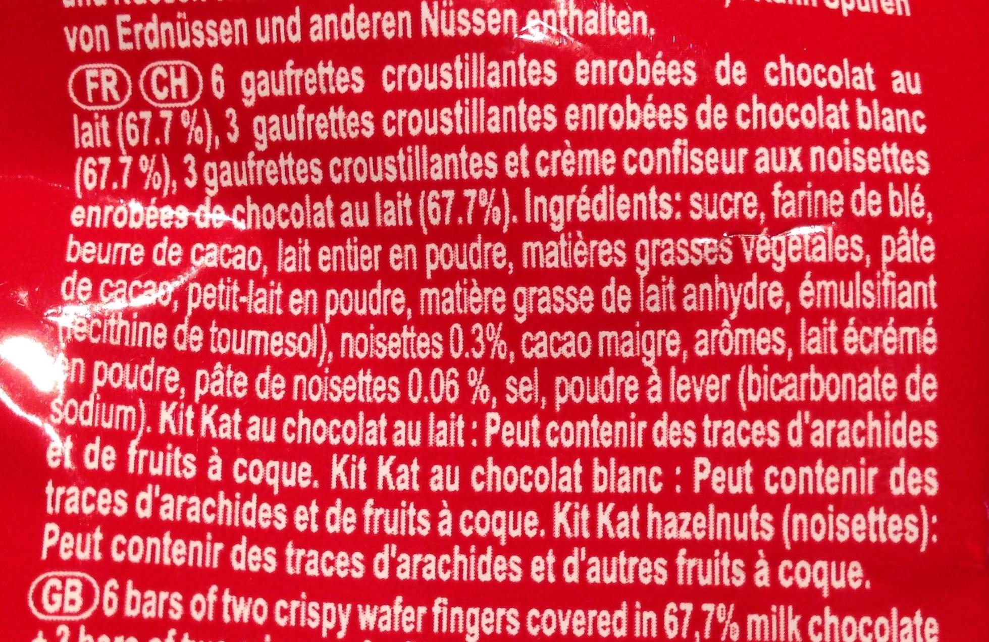 Kit Kat Mini Mix - Ingrédients - fr