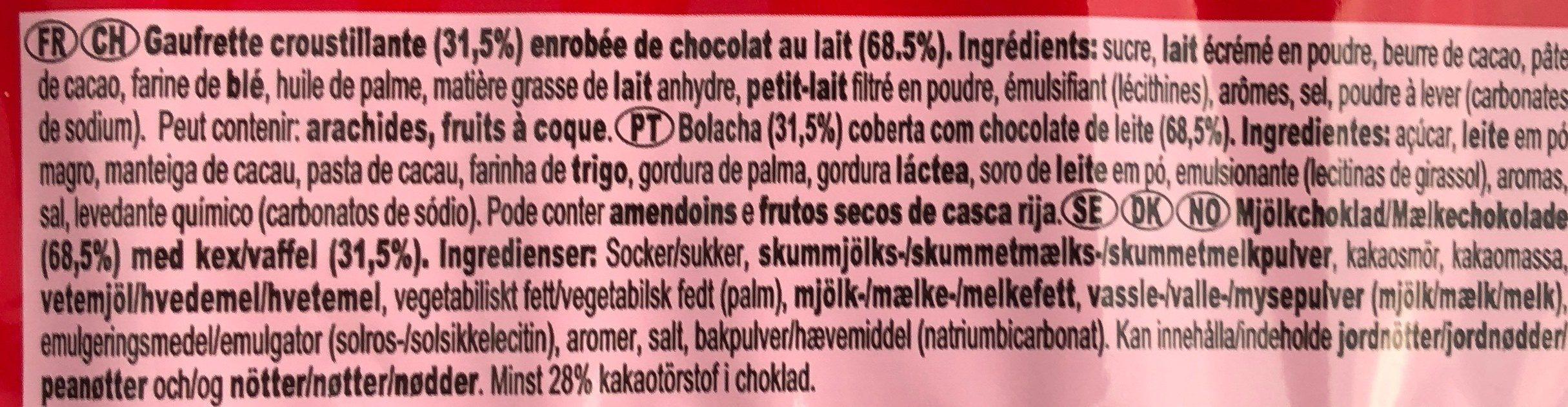 Kit Kat Chunky - Ingrédients - fr