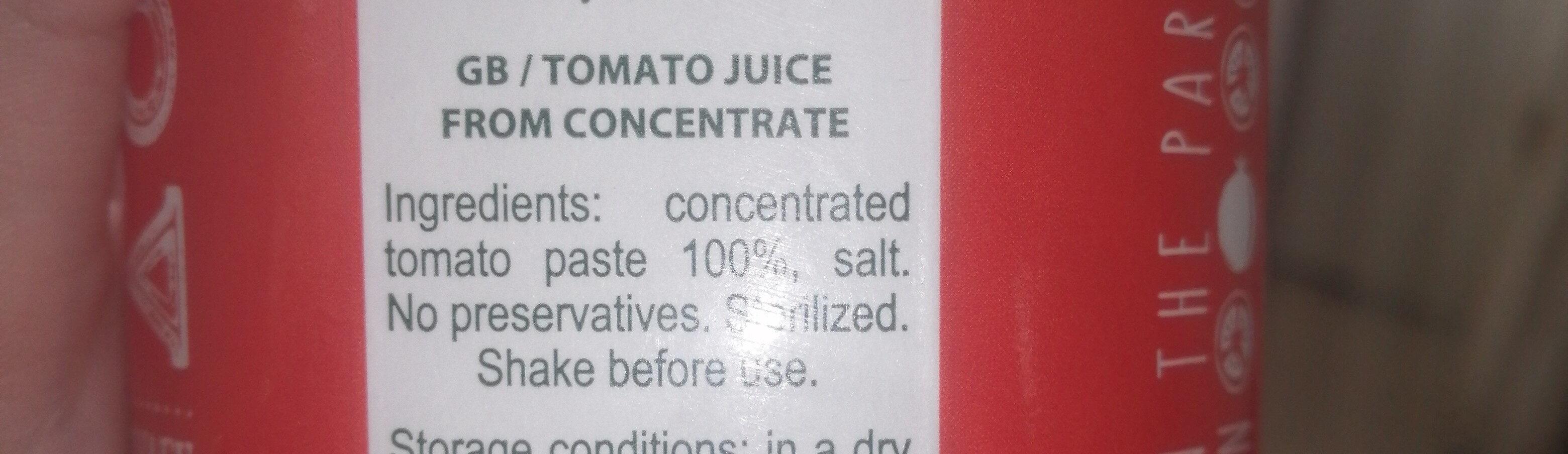 jus de tomate - Ingrediënten - fr