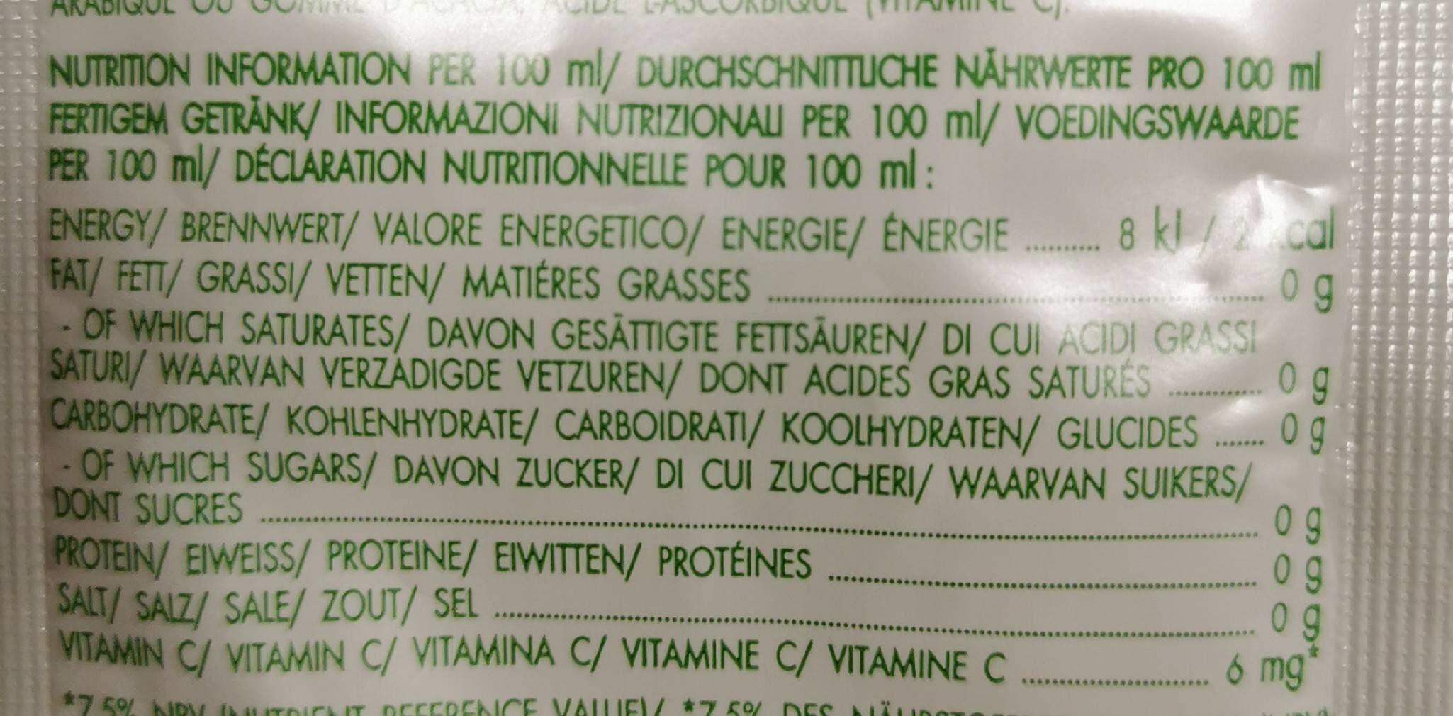 Bolero apple - Informations nutritionnelles - fr