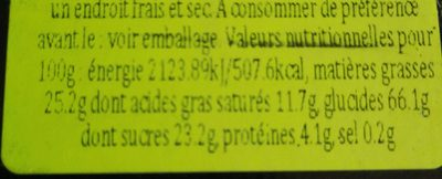 Credo - Informations nutritionnelles - fr