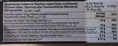Negrita biscuits with cocoa - Хранителна информация - en