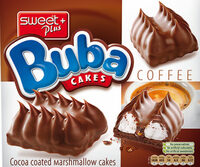 Marshmallow cakes with coffee creme and cocoa-milk coating - Product