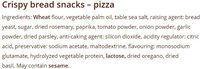 SALZA BREDO ROLLS PIZZA - Ingredients