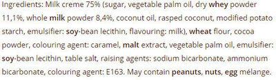VARNA SUMMER WITH MILK CREME - Ingredients
