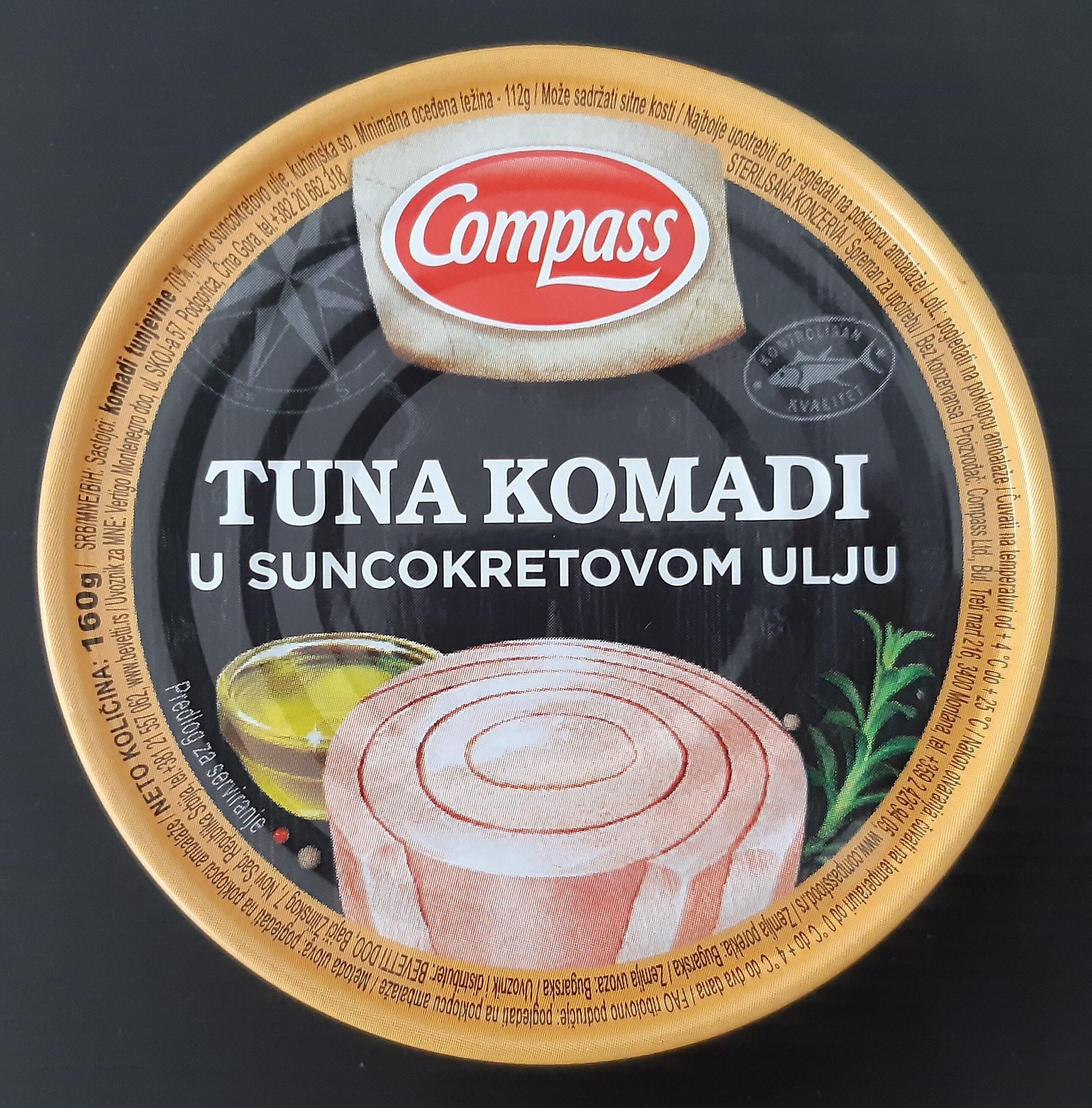 Tuna komadi u suncokretovom ulju - Produit - sr