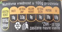 Tuna komadi u suncokretovom ulju - Informations nutritionnelles - sr