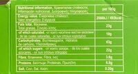 Borovets Muesli Cookies - Хранителна информация - en
