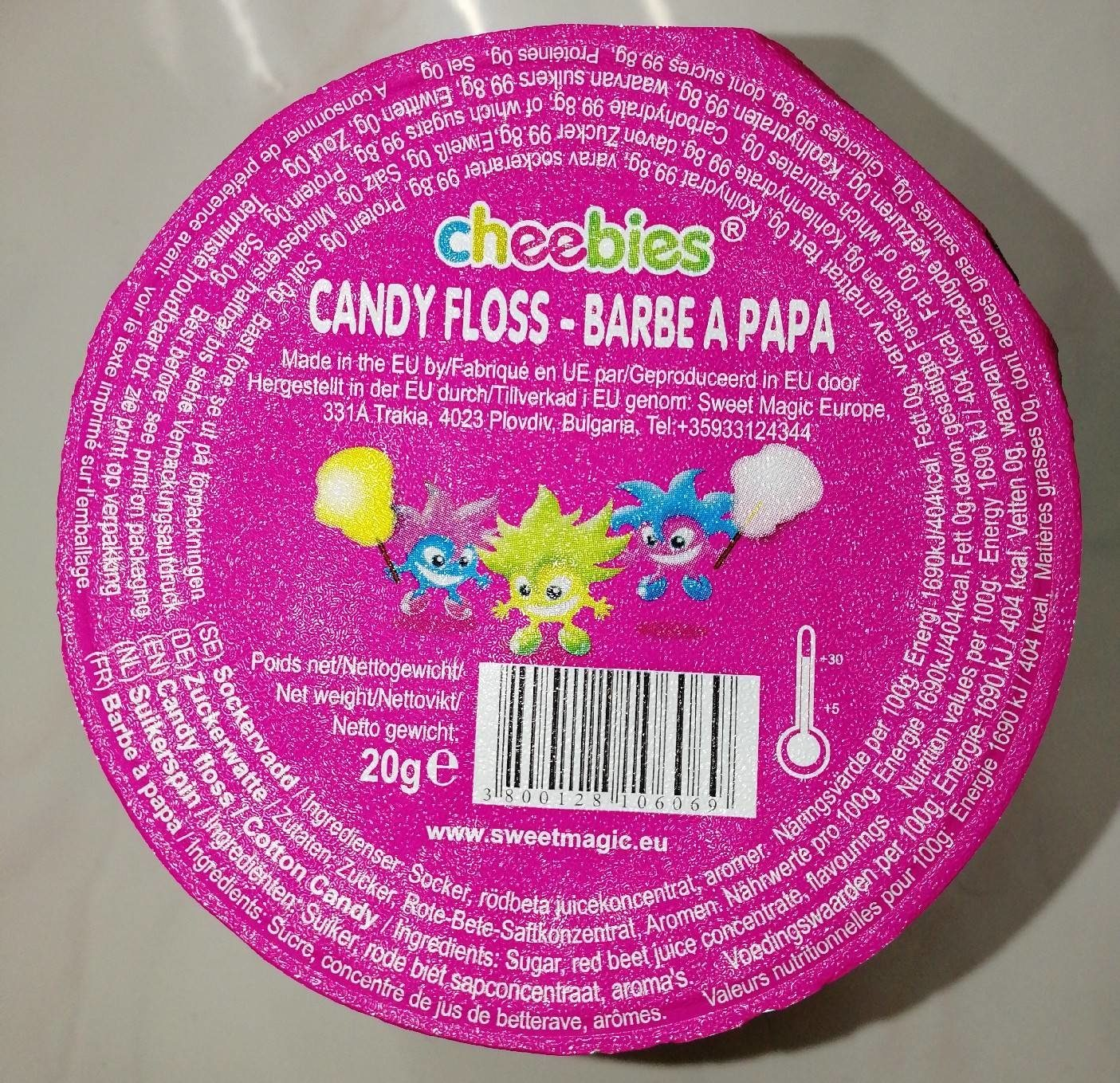 Barbe à papa - Nutrition facts