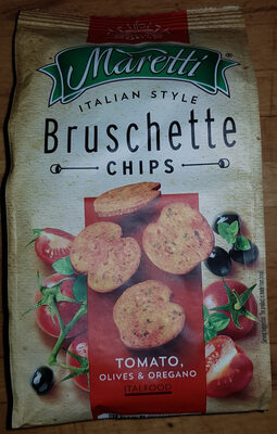 ITALIAN STYLE Bruschette CHIPS TOMATO, OLIVES & OREGANO - Produit - en
