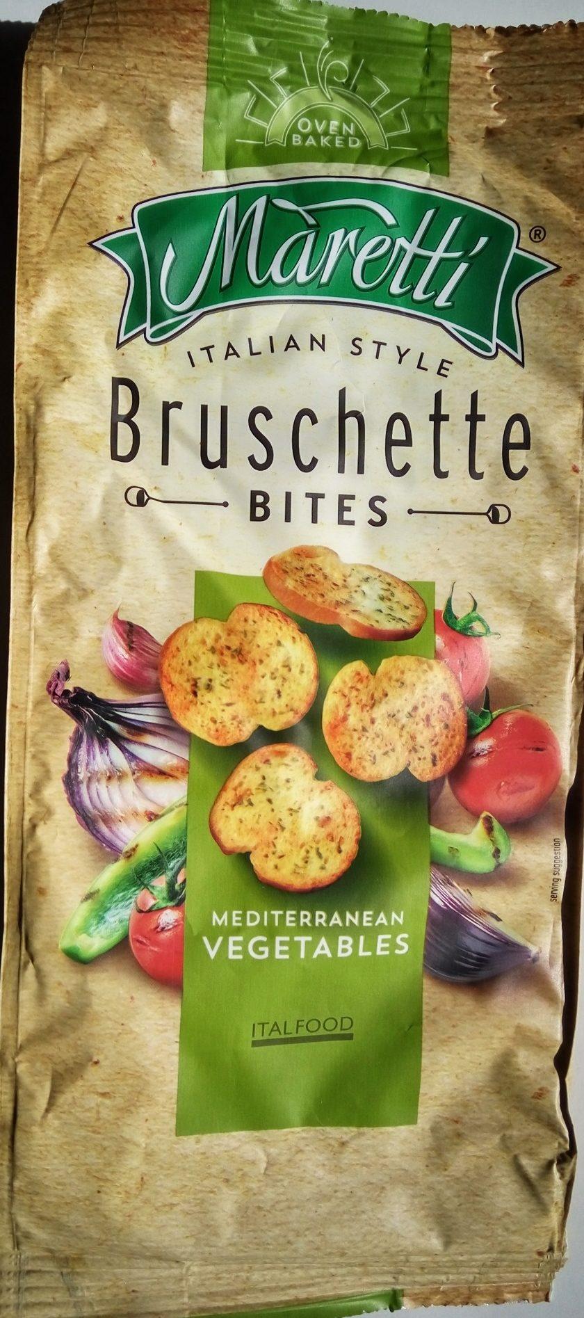 Bruschette bites Mediterranean vegetables - Produit - sr