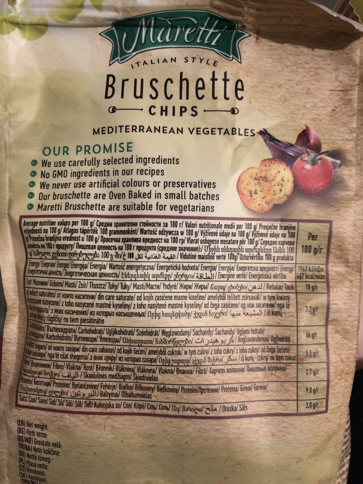 Bruschette bites Mediterranean vegetables - Ingrédients - fr
