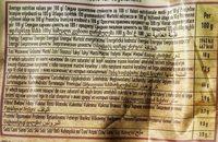 Bruschette bites Mediterranean vegetables - Informations nutritionnelles - sr