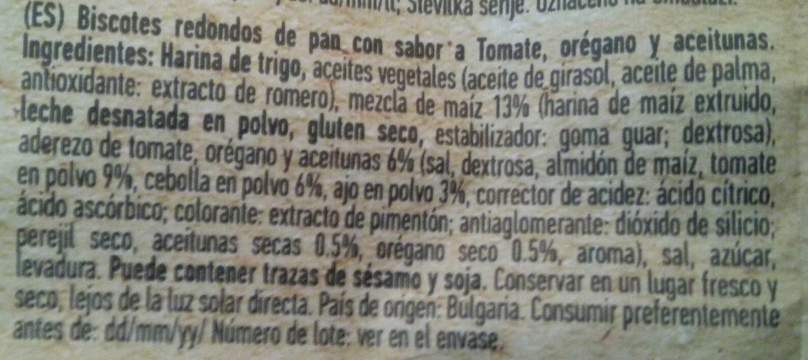 Bruschette bites tomato, olives & oregano - Ingredientes
