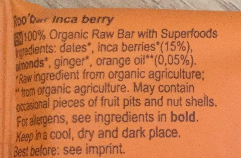 Inca berry - Ingredients - en