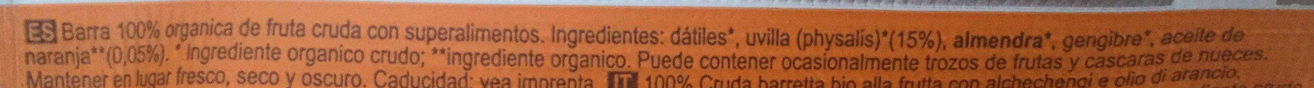 Inca berry - Ingredientes