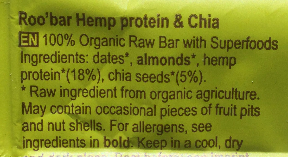 Hemp and Chia - Ingredients - en