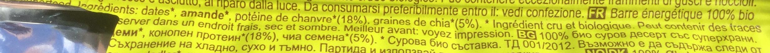 Hemp and Chia - Ingrédients - fr