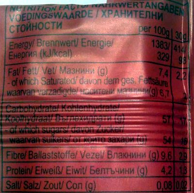Goji berry - Nutrition facts - fr