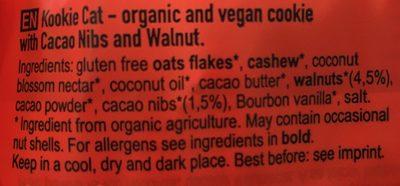 Cacao nibs walnut - Ingredients - fr