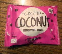 Choc chip coconut brownie ball - Prodotto - en