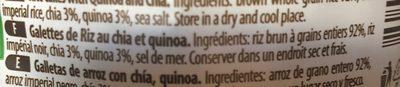 Galettes de riz au chia et quinoa - Ingredienti - fr