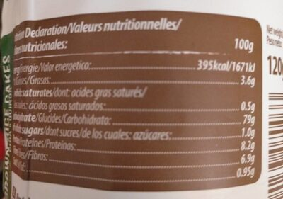 Galettes de riz au chia et quinoa - Valori nutrizionali - fr