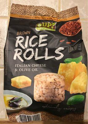 Mini galettes de riz brun à grains entiers saveur fromage italien - Produit - fr