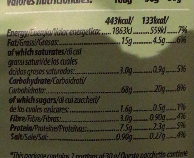 Wasabi - Хранителна информация - en