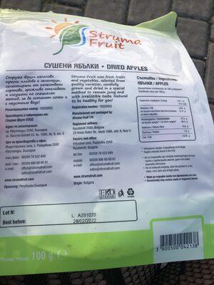 Dried Apples - Съставки - en
