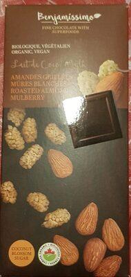 Lait de coco amandes grillées et mûres blanches - Product - fr