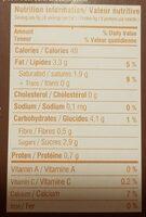 Lait de coco amandes grillées et mûres blanches - Nutrition facts - fr
