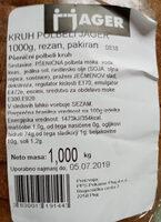 Kruh Pobeli Jager rezan, pakiran - Product - en