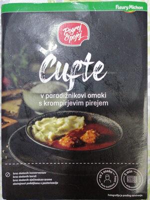 Čufti v paradižnikovi omaki s krompirjevim pirejom - Product