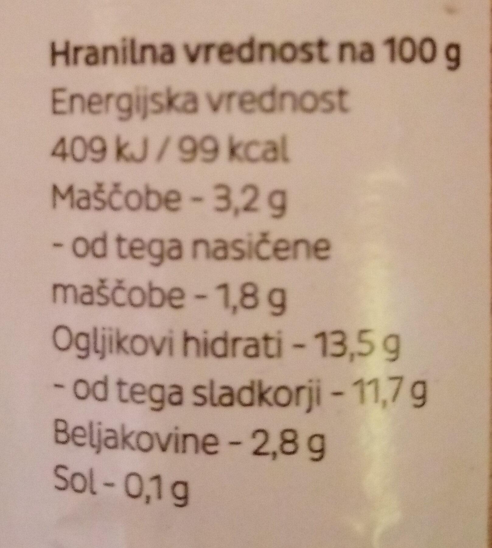 Domači tekoči Jogurt Jagoda - Nutrition facts - sl