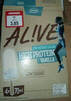 AL!VE HIGH PROTEIN VANILLA iced dessert lollies - Produkt - de