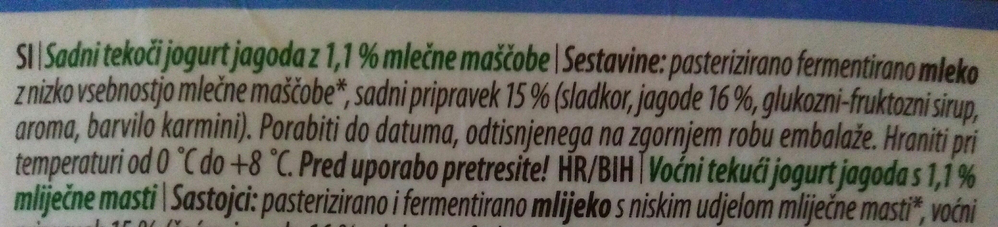 Jogurt jagoda - Ingredients