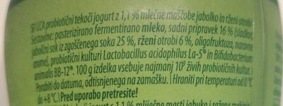 LCA sadni tekoči jogurt jabolko in rženi otrobi - Ingredients