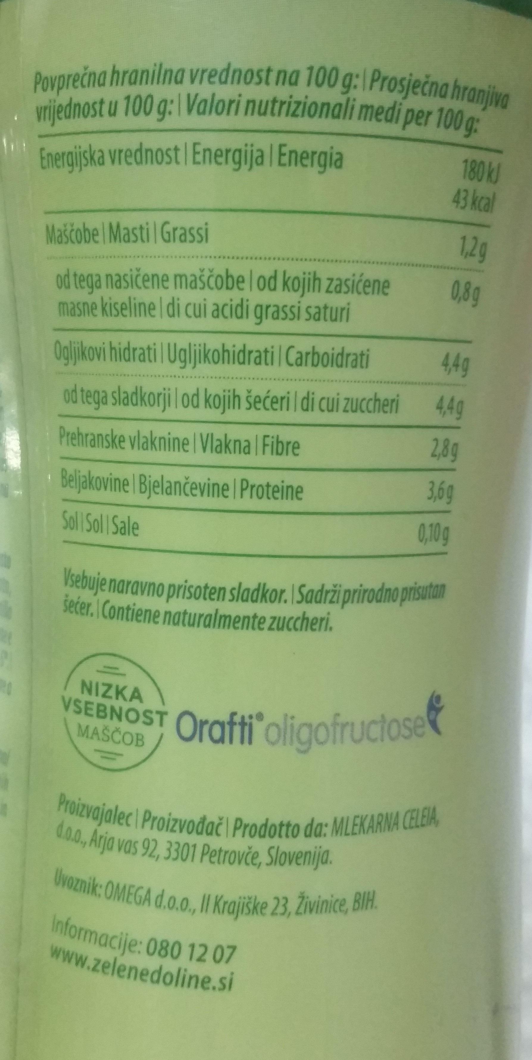 LCA Tekoči jogurt z okusom borovnice - Informations nutritionnelles