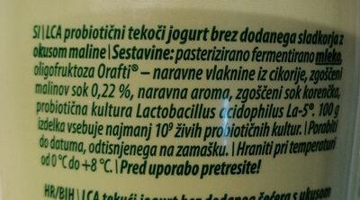 LCA probiotični tekoči jogurt malina - Ingredients